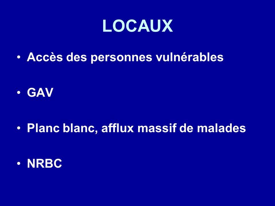 LOCAUX Accès des personnes vulnérables GAV