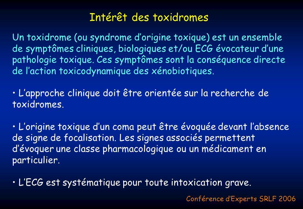 Intérêt des toxidromes
