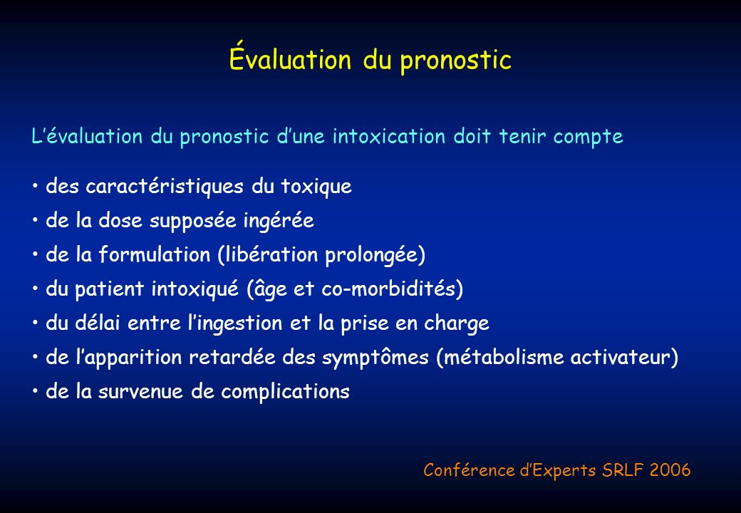 Évaluation du pronostic