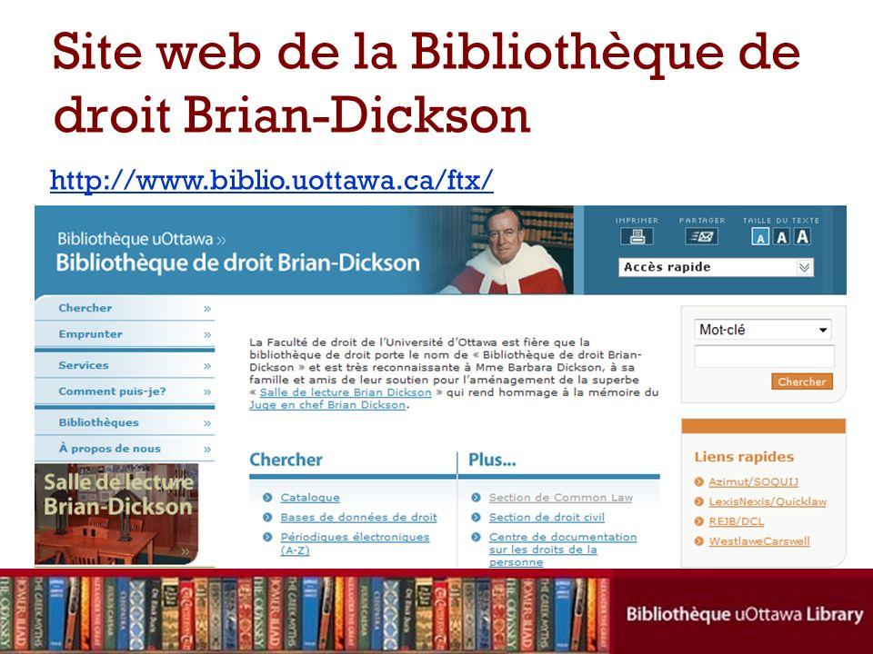 Site web de la Bibliothèque de droit Brian-Dickson