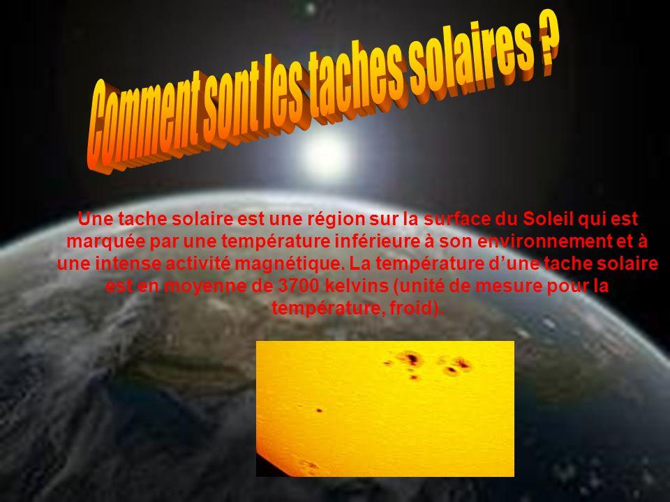 Comment sont les taches solaires
