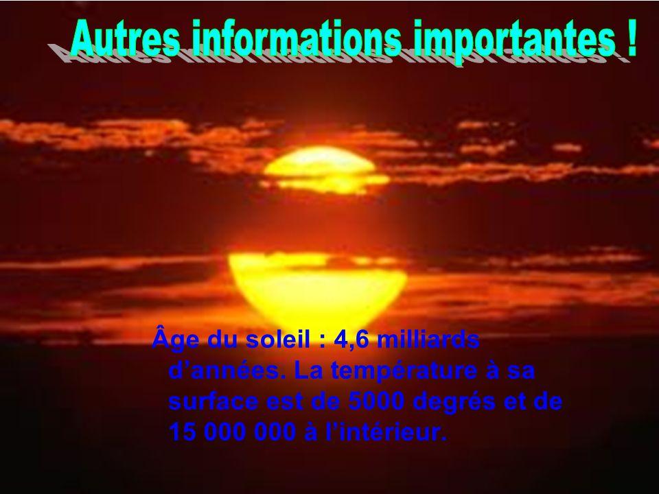 Autres informations importantes !