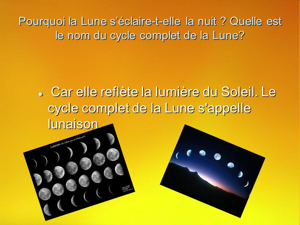 Pourquoi la Lune s'éclaire-t-elle la nuit