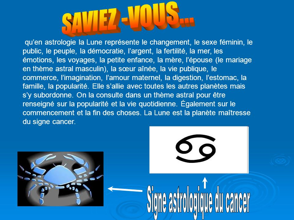 Signe astrologique du cancer