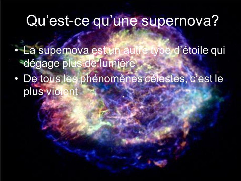 Qu'est-ce qu'une supernova