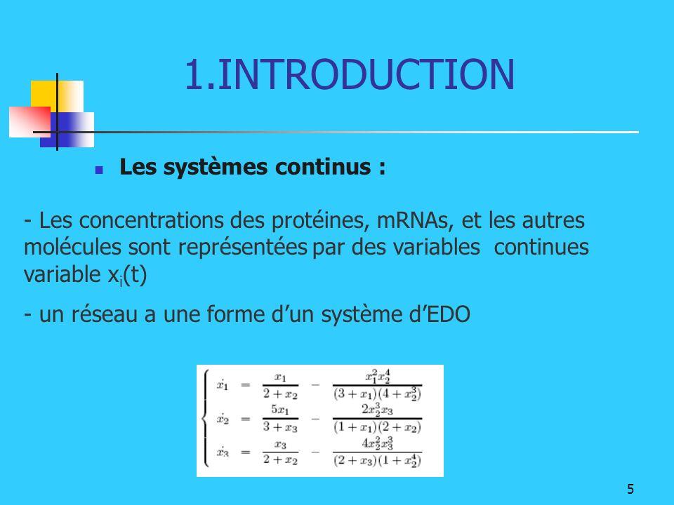 1.INTRODUCTION Les systèmes continus :