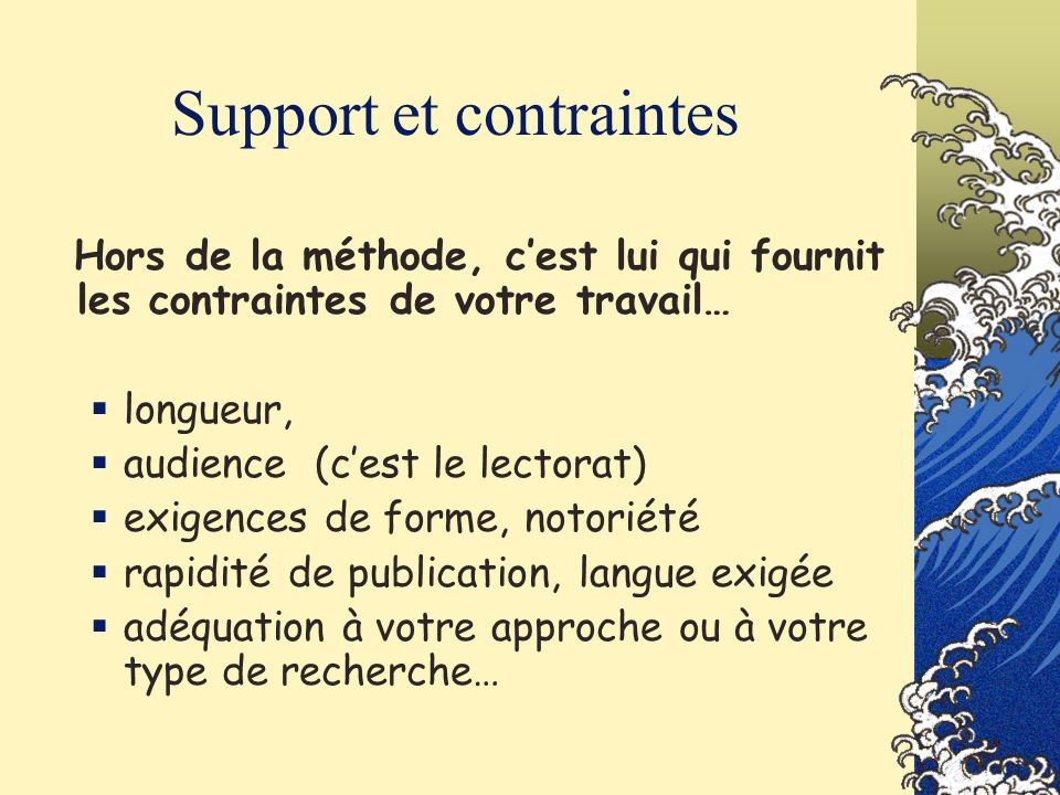 Support et contraintes