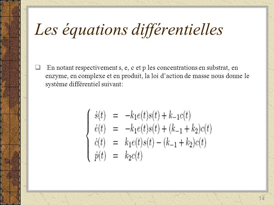 Les équations différentielles