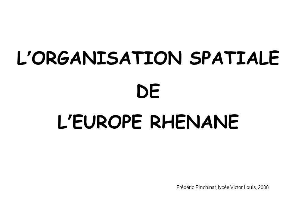 L'ORGANISATION SPATIALE