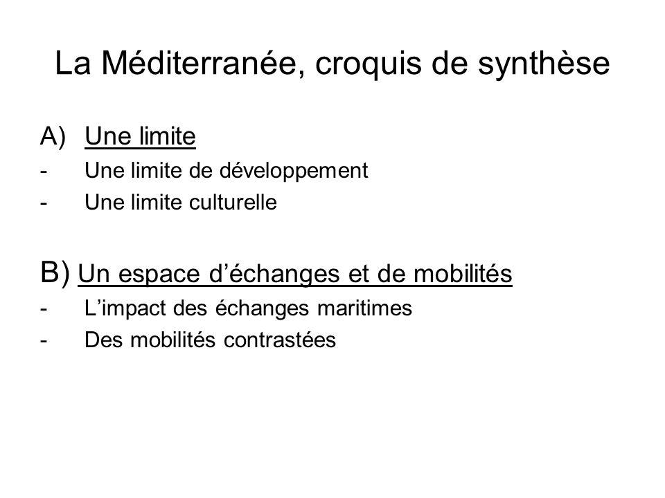 La Méditerranée, croquis de synthèse