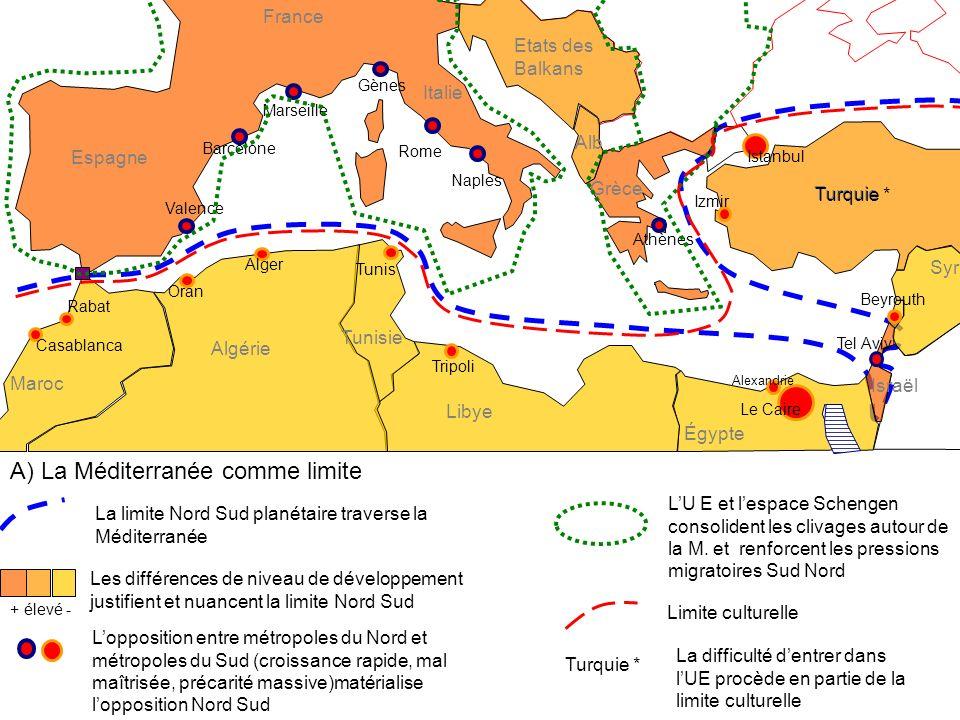 A) La Méditerranée comme limite