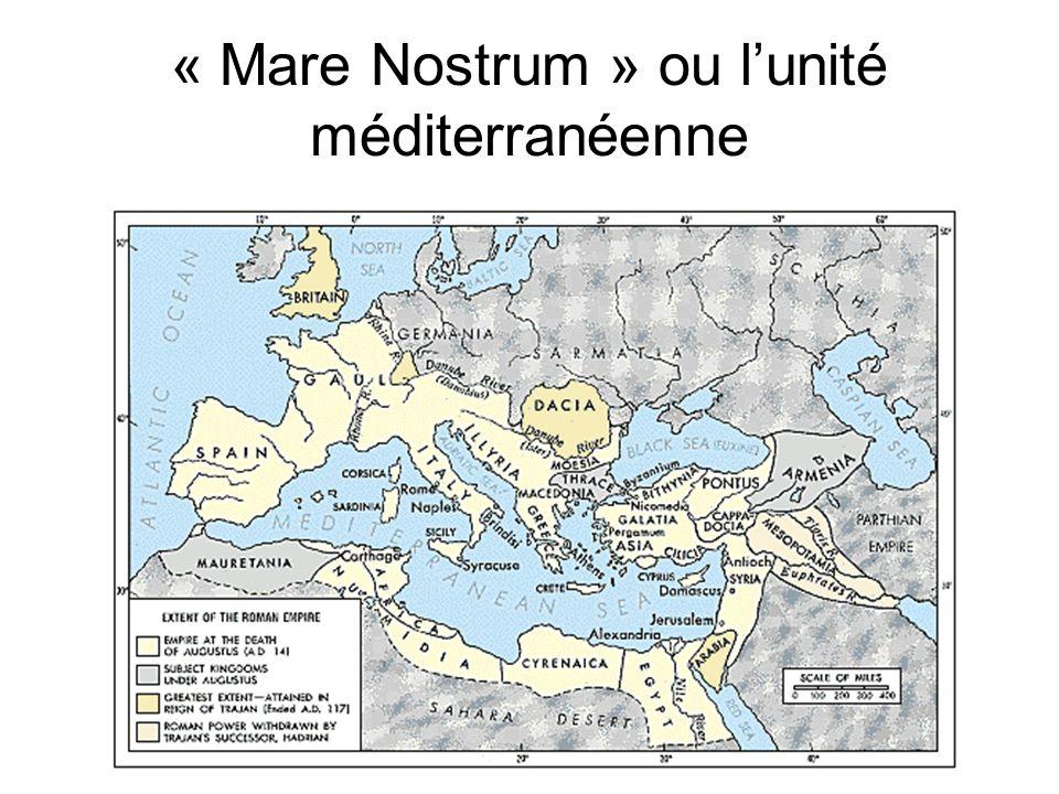 « Mare Nostrum » ou l'unité méditerranéenne