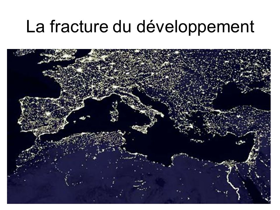 La fracture du développement