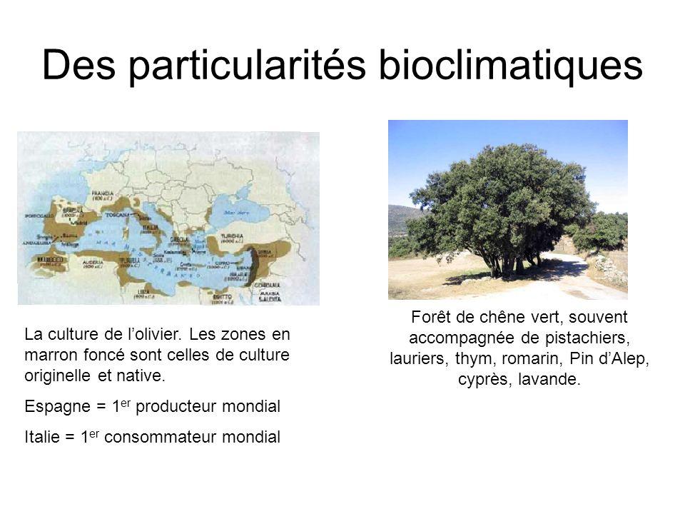 Des particularités bioclimatiques