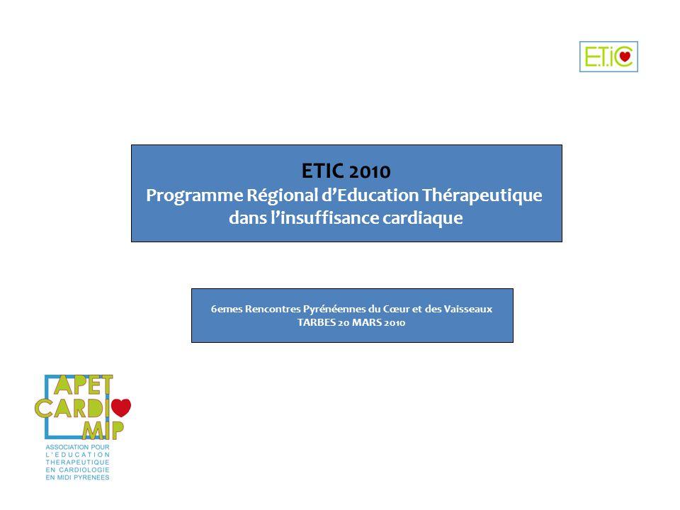 ETIC 2010 Programme Régional d'Education Thérapeutique