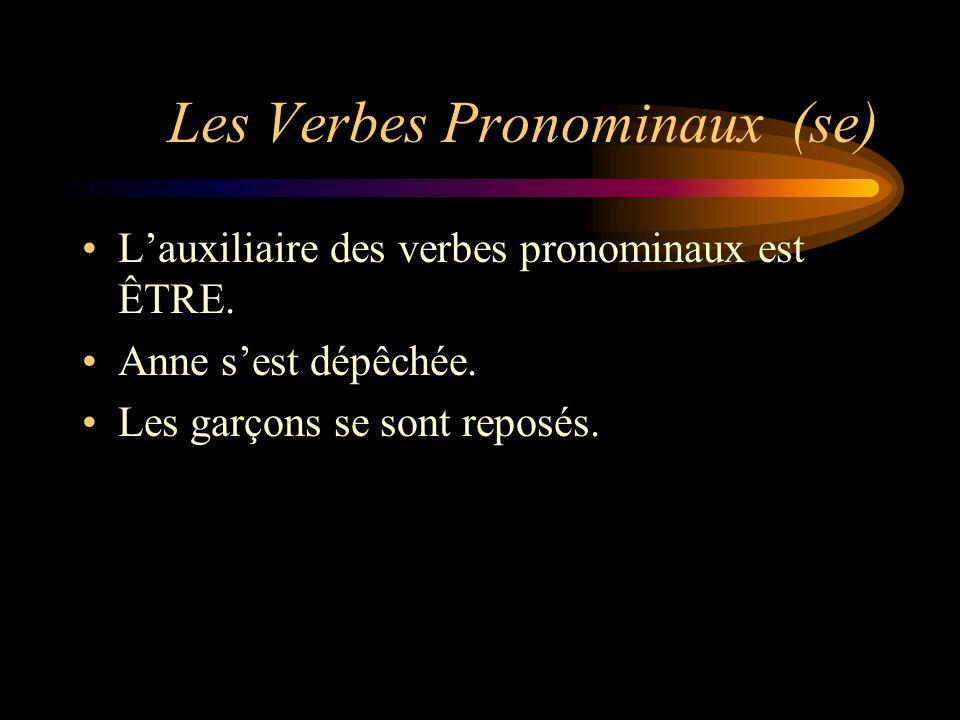 Les Verbes Pronominaux (se)