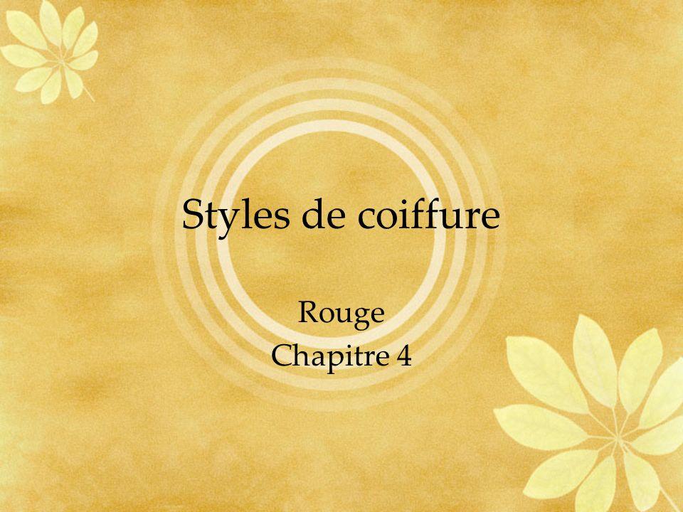 Styles de coiffure Rouge Chapitre 4