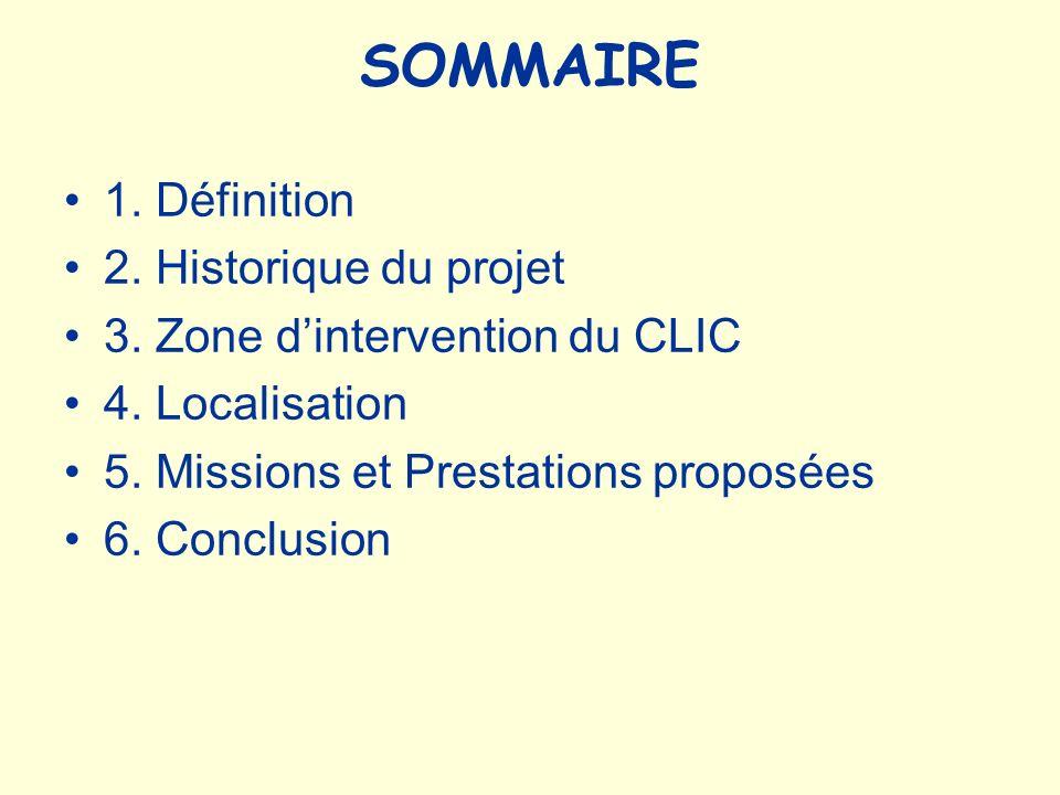 SOMMAIRE 1. Définition 2. Historique du projet
