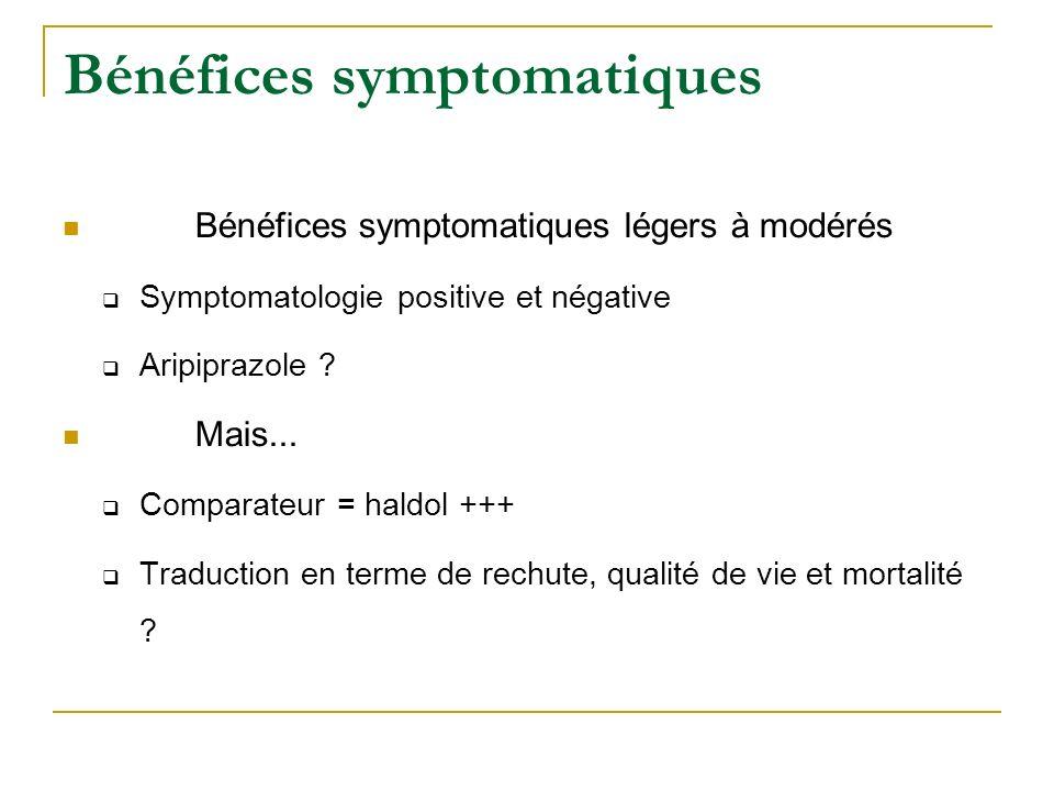 Bénéfices symptomatiques