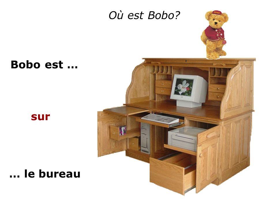 Où est Bobo Bobo est … sur … le bureau