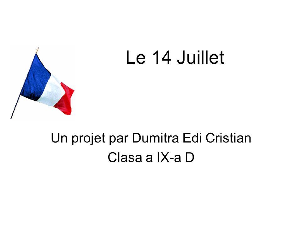 Un projet par Dumitra Edi Cristian Clasa a IX-a D