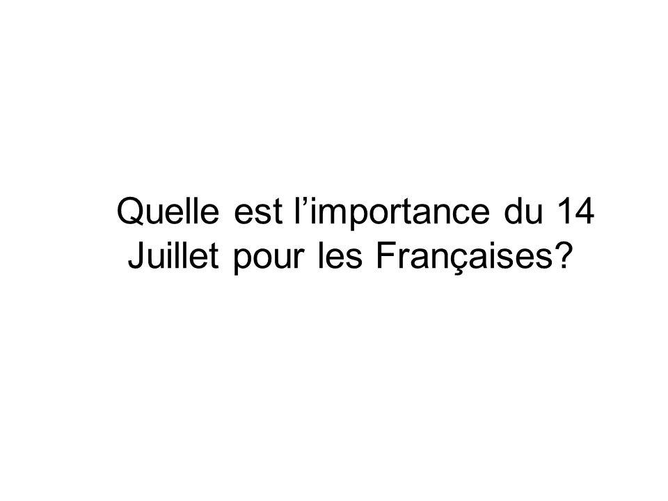 Quelle est l'importance du 14 Juillet pour les Françaises
