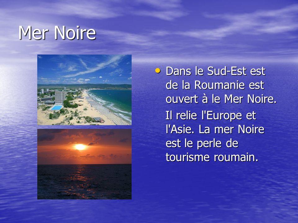 Mer Noire Dans le Sud-Est est de la Roumanie est ouvert à le Mer Noire.