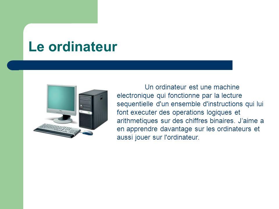 Le ordinateur