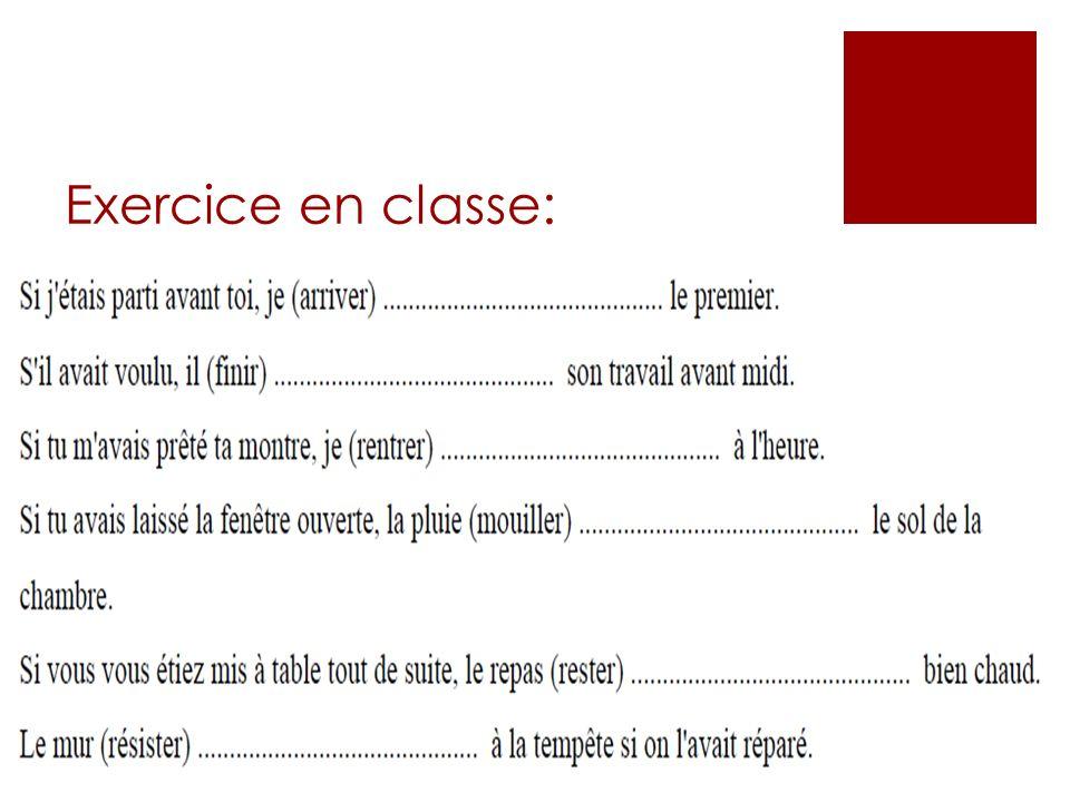 Exercice en classe: