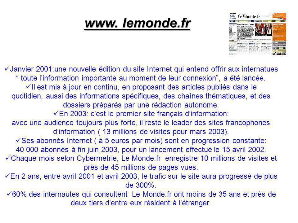 En 2003: c'est le premier site français d'information: