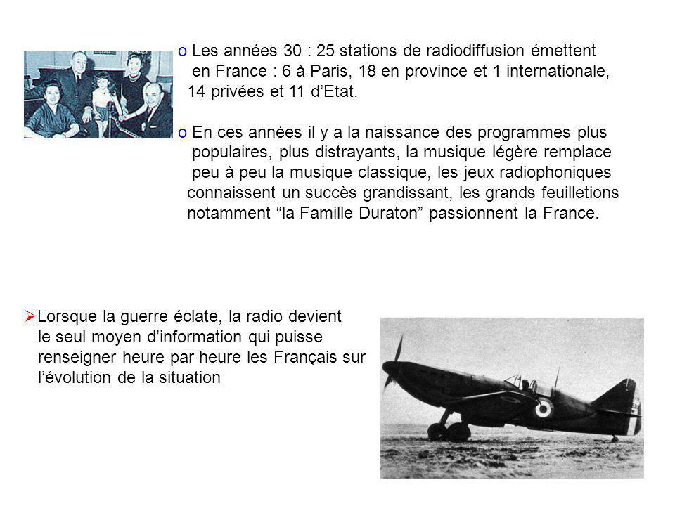 Les années 30 : 25 stations de radiodiffusion émettent