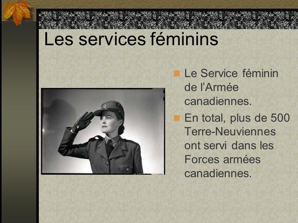 Les services féminins Le Service féminin de l'Armée canadiennes.
