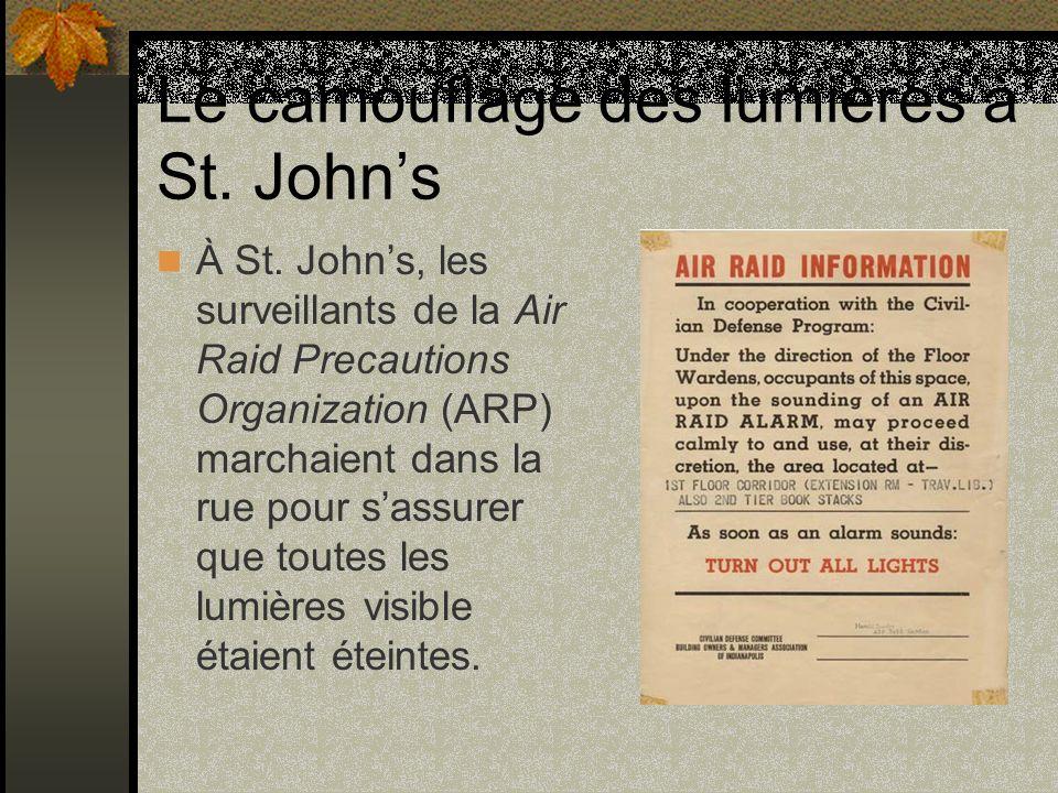 Le camouflage des lumières à St. John's
