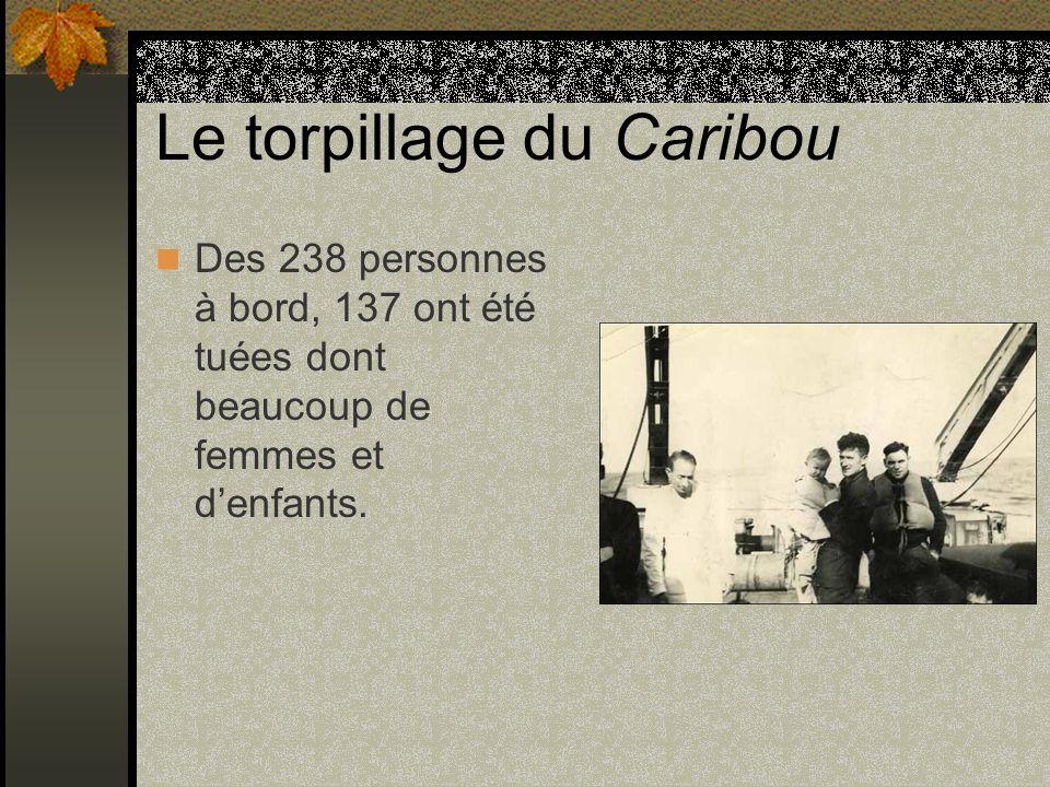 Le torpillage du Caribou