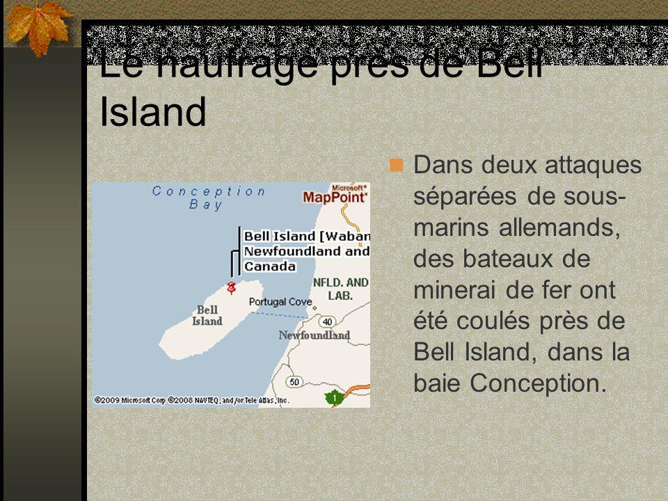 Le naufrage près de Bell Island