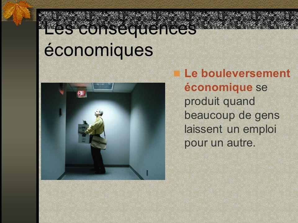 Les conséquences économiques