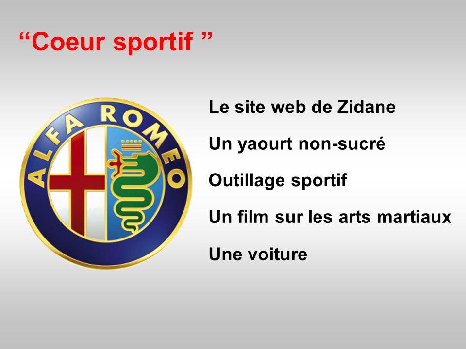 Coeur sportif Le site web de Zidane Un yaourt non-sucré