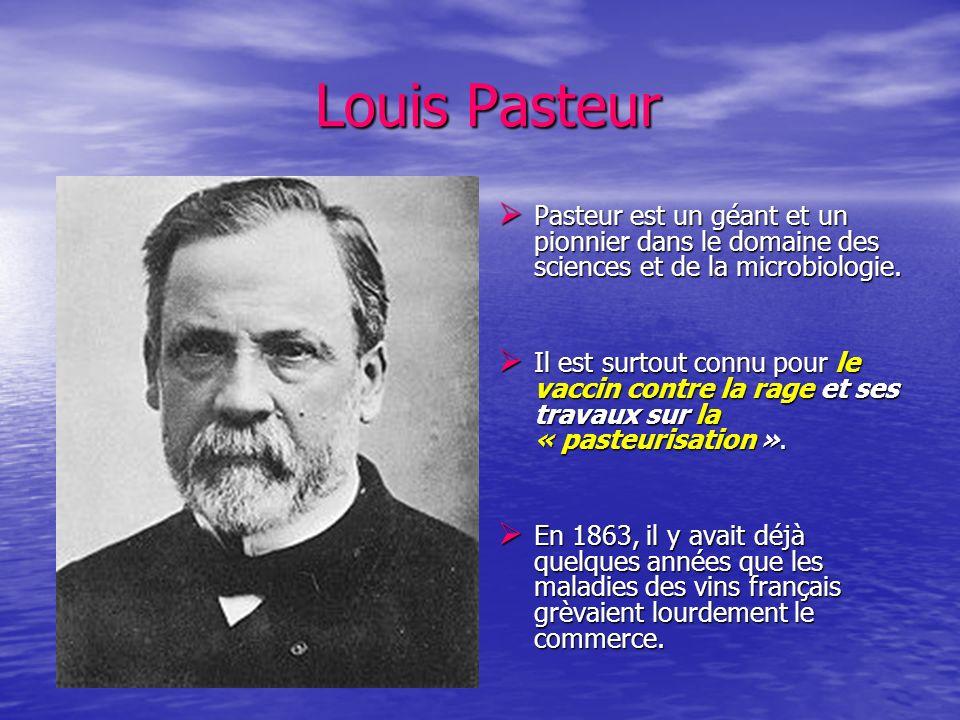Louis PasteurPasteur est un géant et un pionnier dans le domaine des sciences et de la microbiologie.