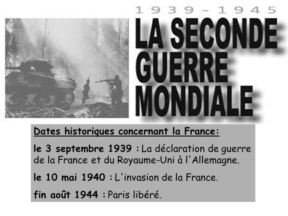 Dates historiques concernant la France: