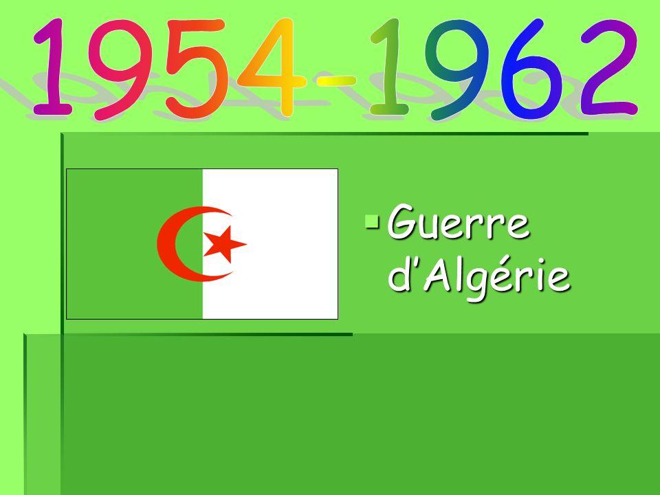 1954-1962 Guerre d'Algérie