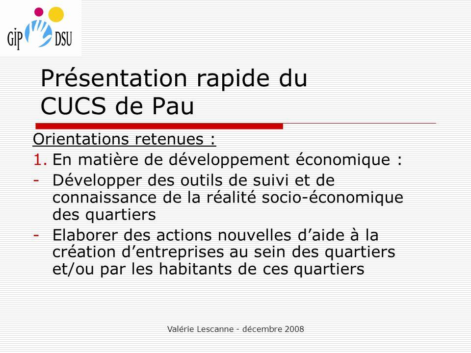 Présentation rapide du CUCS de Pau