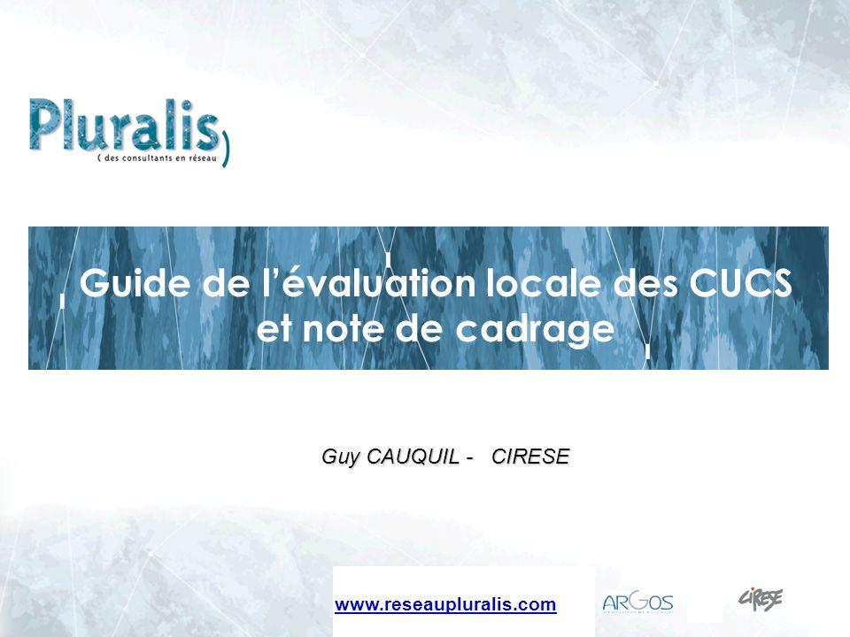 Guide de l'évaluation locale des CUCS et note de cadrage