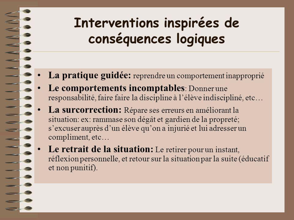Interventions inspirées de conséquences logiques