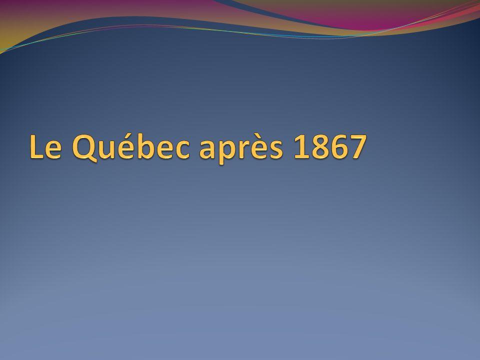 Le Québec après 1867