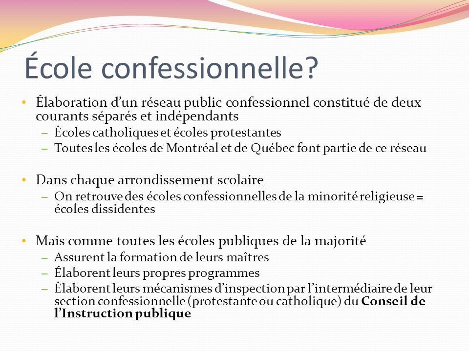 École confessionnelle