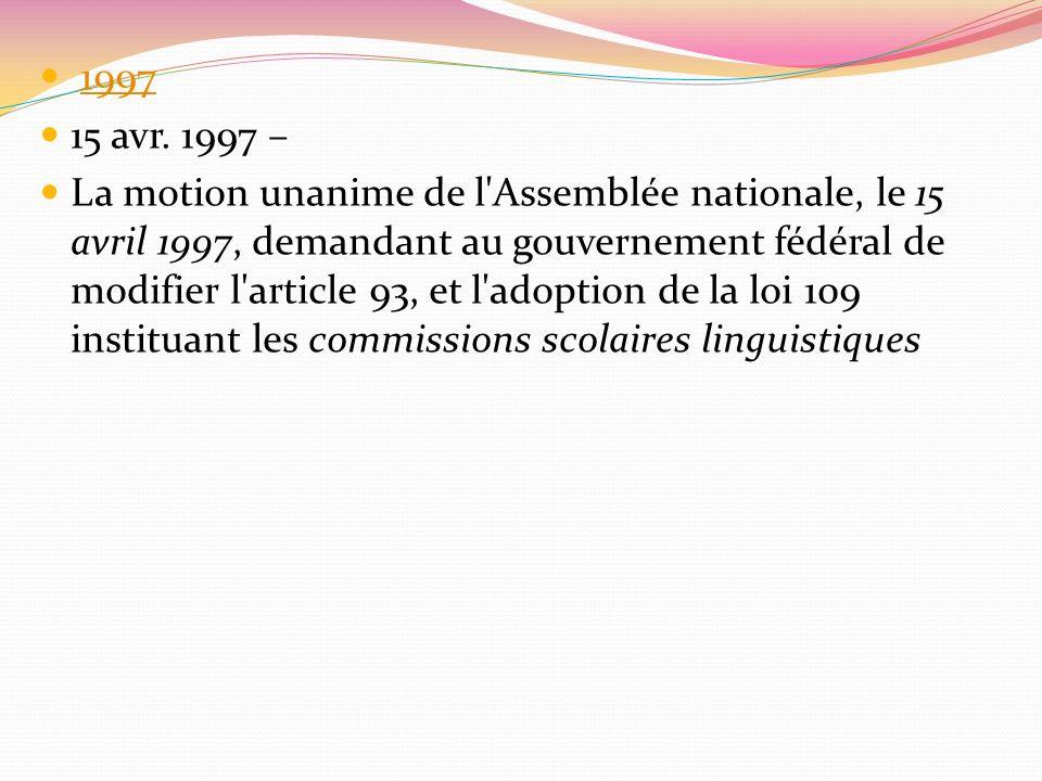1997 15 avr. 1997 –