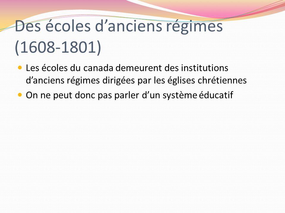 Des écoles d'anciens régimes (1608-1801)