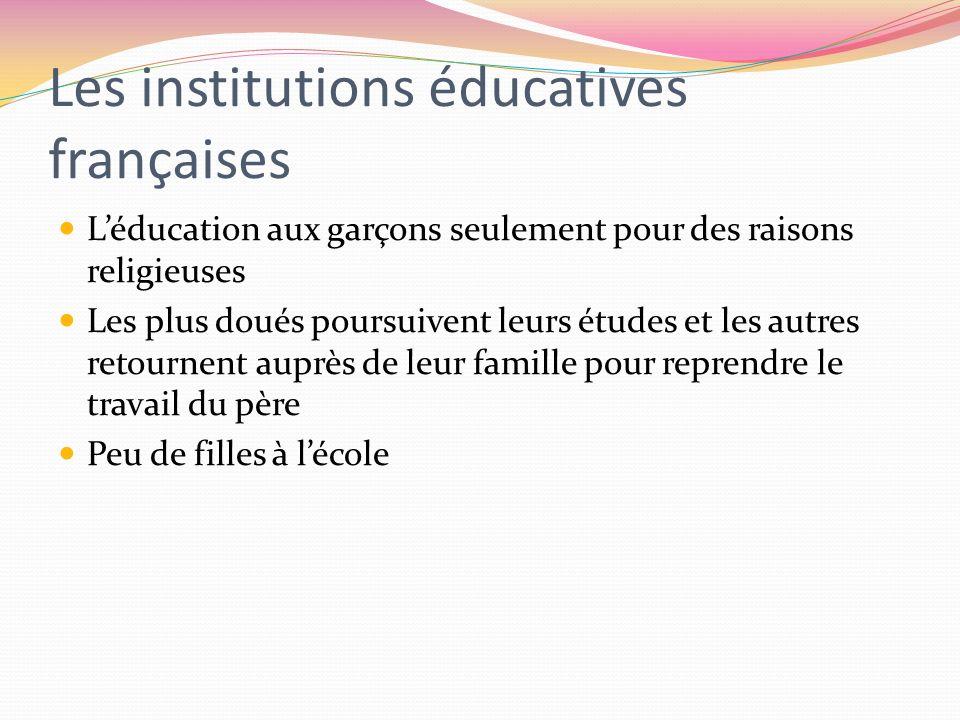 Les institutions éducatives françaises