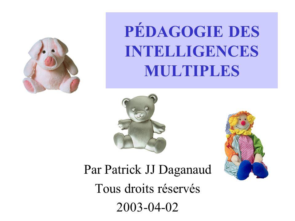 PÉDAGOGIE DES INTELLIGENCES MULTIPLES