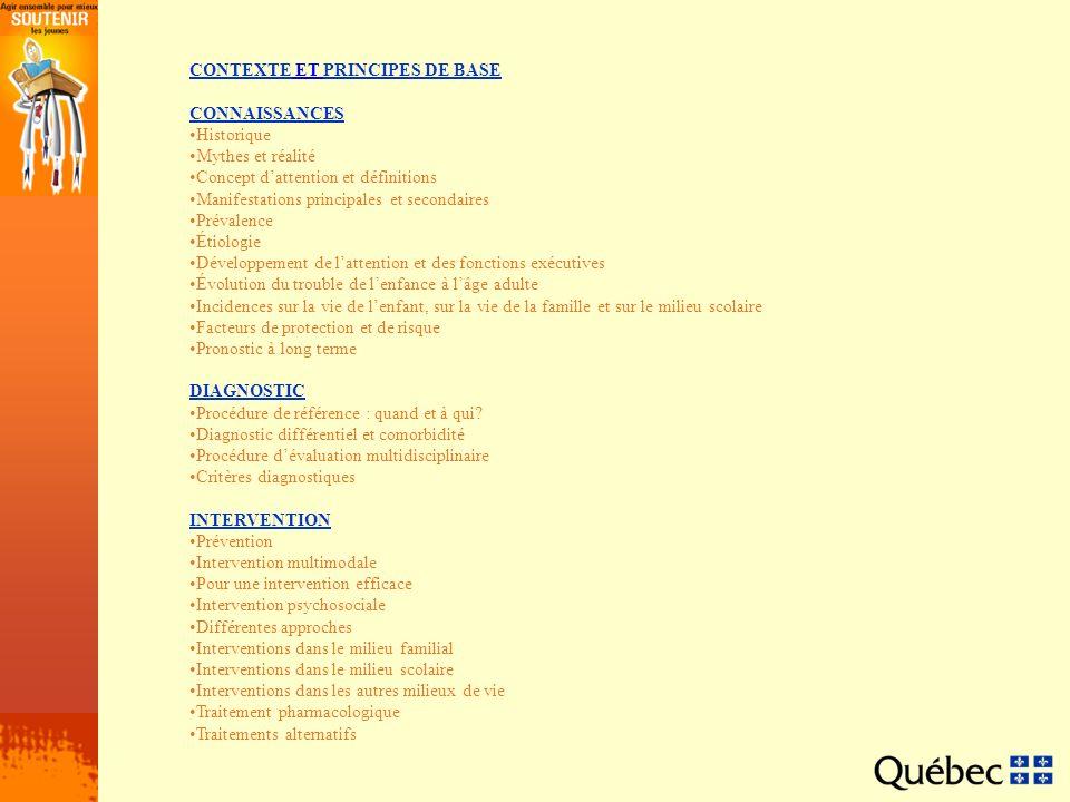 CONTEXTE ET PRINCIPES DE BASE